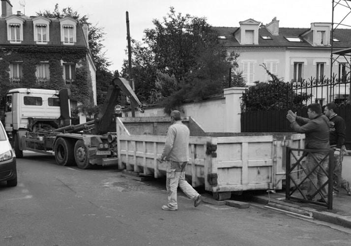Installation de benne fixe à Paris