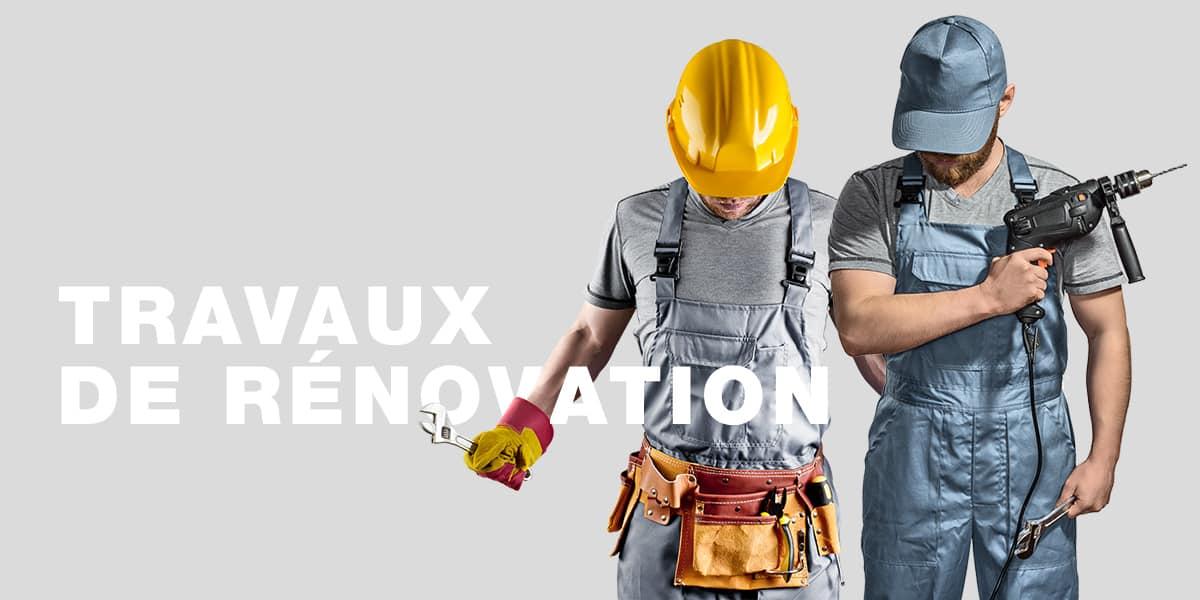 travaux de rénovation des batiments